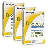 D-Stress (+ 1 Vitamine D3 offerte) | Magnésium Hautement Assimilé | Taurine, Arginine & Vitamines B (Vitamine B6, B5, B3, B2) | Origine France | Lot de 3 + 1 Vitamine D3 offerte