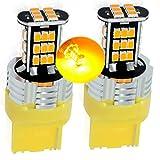 MCK Auto - Sostituzione per T20 7440 LED CanBus Set di lampadine arancioni molto chiare e senza errori compatibili con Golf 6