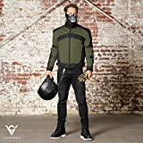 Motorcycle Jackets for Men Viking Cycle Ironside Men's Mesh Motorcycle Jacket (X-Small, Military Green)