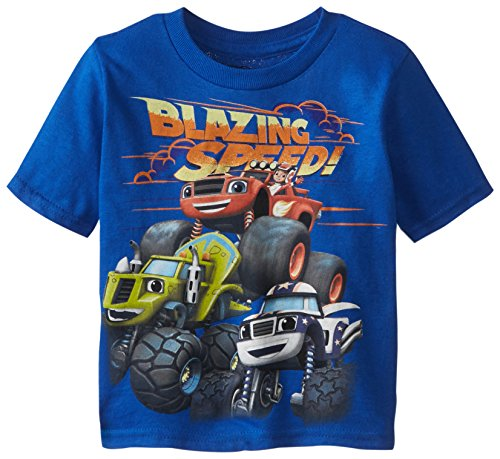Blaze and the Monster Machines Little Boys' Toddler Short Sleeve T-Shirt, Royal, 5T