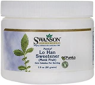 Swanson Purelo Lo Han Sweetener (Monk Fruit) 2.8 Ounce (80 g) Pwdr