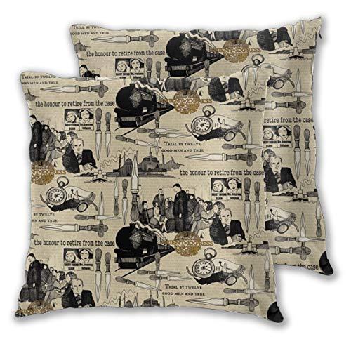 Murder On The Orient Express Agatha Christie - Juego de 2 fundas de almohada para decoración diaria para sofá,...