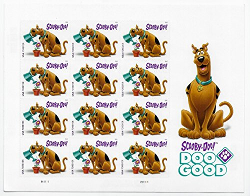 USPS Scooby-Doo! Pane of 12 First-Class Forever Stamps Scott 5299