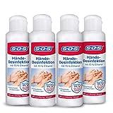 SOS Hände-Desinfektion, Desinfektionsmittel aus 70% Ethanol für die Hände, 4 x 100 ml