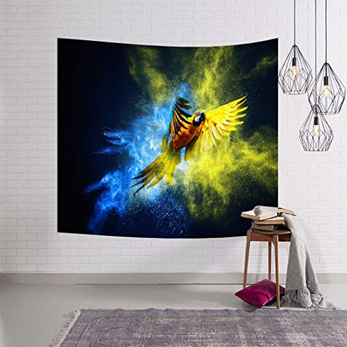 JSANSUI Classroom decoration 3D Digital Painting Animal World Wall Hanging Carpet Beach Towel Multi-function Tapestry (Size: 153 * 102cm) (Color : Color2)