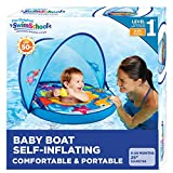 Self-Inflating Baby Boat with Adjustable seat, Retractable Canopy & Sun Protection - by Aqua Leisure