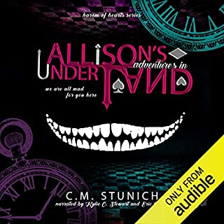 Allison's Adventures in Underland: A Dark Reverse Harem Romance (Harem of Hearts) audiobook cover art