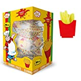 100 Patatine Fritte Gommose. Caramelle Gommose JoyGum Gummy Fries. Ideale Per Feste di Compleanno e Caramellate. Confezione da 100 pezzi Incartati Singolarmente