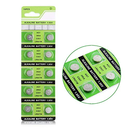 Cotchear AG7 Coin Battery 395A LR927 SR927SW LR57 SR927 Button Cell Batteries [10Pcs/Pack]