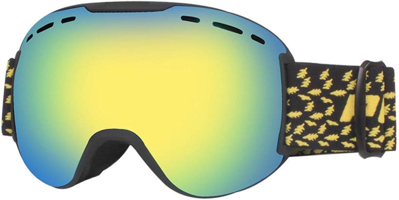 Ski Goggles Sports Glasses Glasses Adult Outdoor Climbing Goggles Double Anti-Fog Ski GogglesJBP18 (color   E)