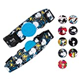 ZOOZ PETS Snoopy Dog Collar - Official Snoopy Adjustable & Water Resistant Dog Collars for Small Dogs & Large - Extra Safety Strong Buckle Durable Fabric - Silky Comfortable Touch - 10 Unique Designs
