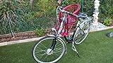 Marcus Kinderfahrradsitz in rot vorn Fahrradsitz Fahrradkorb Lenkerkorb Weidenkorb Weide (rot mit Kissen)