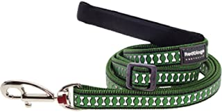 Red Dingo Reflective Dog Lead, Large, Green