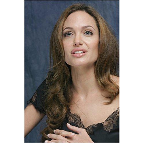 Angelina Jolie 8x10 Photo Malificent Salt Mr.& Mrs. Smith Lara Croft: Tomb Raider Lovely Smile Black Lacy Top Pose 5 kn