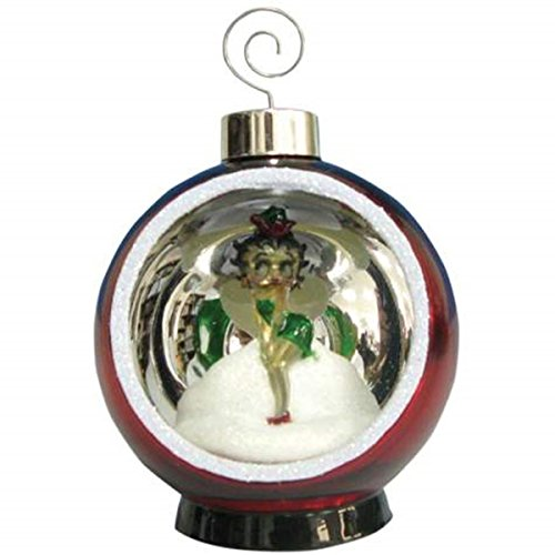 WL Lighted Holiday Christmas Ornament with Betty Boop Santa Elf Design