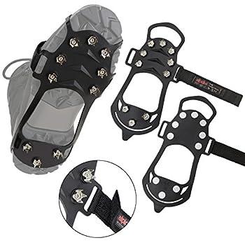 ALPIDEX Crampons antidérapants pour Chaussures Crampons à Glace Neige en différentes Tailles, Taille:L