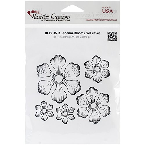 Heartfelt Creations Arianna Blooms Cling Rubber Stamp