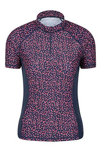 Mountain Warehouse T-Shirt Anti-UV pour Femmes - Protection Solaire UPF50+, séchage Rapide, Coutures Plates - pour la Natation, la Plage, à Porter sous Une Combinaison Bleu Marine 40