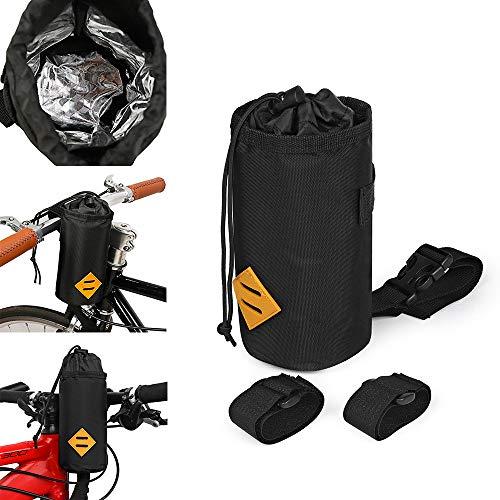 Sac de support de bouteille d'eau de vélo, porte-gobelet de guidon, accessoires de fixation de sac d'isolation, support de boisson de bouteille d'eau de vélo, pour stocker des boissons, la nourriture