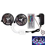 Flexibilidad Luces de tira, tira llevada RGB 5050 SMD 2835 Flexible LED Franja for el dormitorio, salón, dormitorio, televisión, cocina, Escritorio espejo Tv