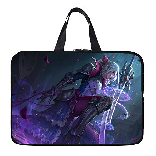 Laptop Sleeve Case Protective Bag with Outside Handle, Ultrabook Notebook Carrying Case Handbag for 14' 15' Lenovo Dell Toshiba HP Acer-Sword Sister_15-inch