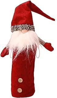 Yuege Christmas Decorations Santa Claus Handmade Swedish Gnome, 12 inch Swedish Tomte Santa Nisse Nordic Figurine Plush Elf Toy Home Decor Winter Table Ornament Christmas Decorations (A)