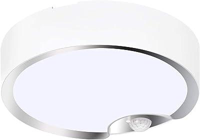 SODIAL Plafonniers de Capteur de Mouvement à Piles à L'IntéRieur/ExtéRieur LED Plafonniers pour Couloir Buanderie