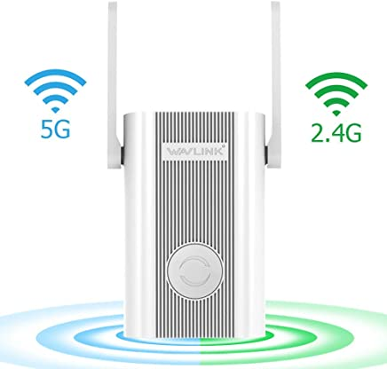 [Upgraded 2019] WiFi Extender,WiFi Range Repeater 1200Mbps High Speed Signal Booster 2.4G + 5Ghz Dual Band Wi-Fi Amplifier Repeater with WPS