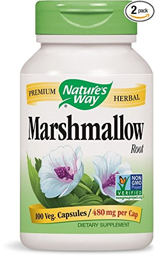 Nature's Way Marshmallow Root 480 mg, 100 Capsules, Pack of 2