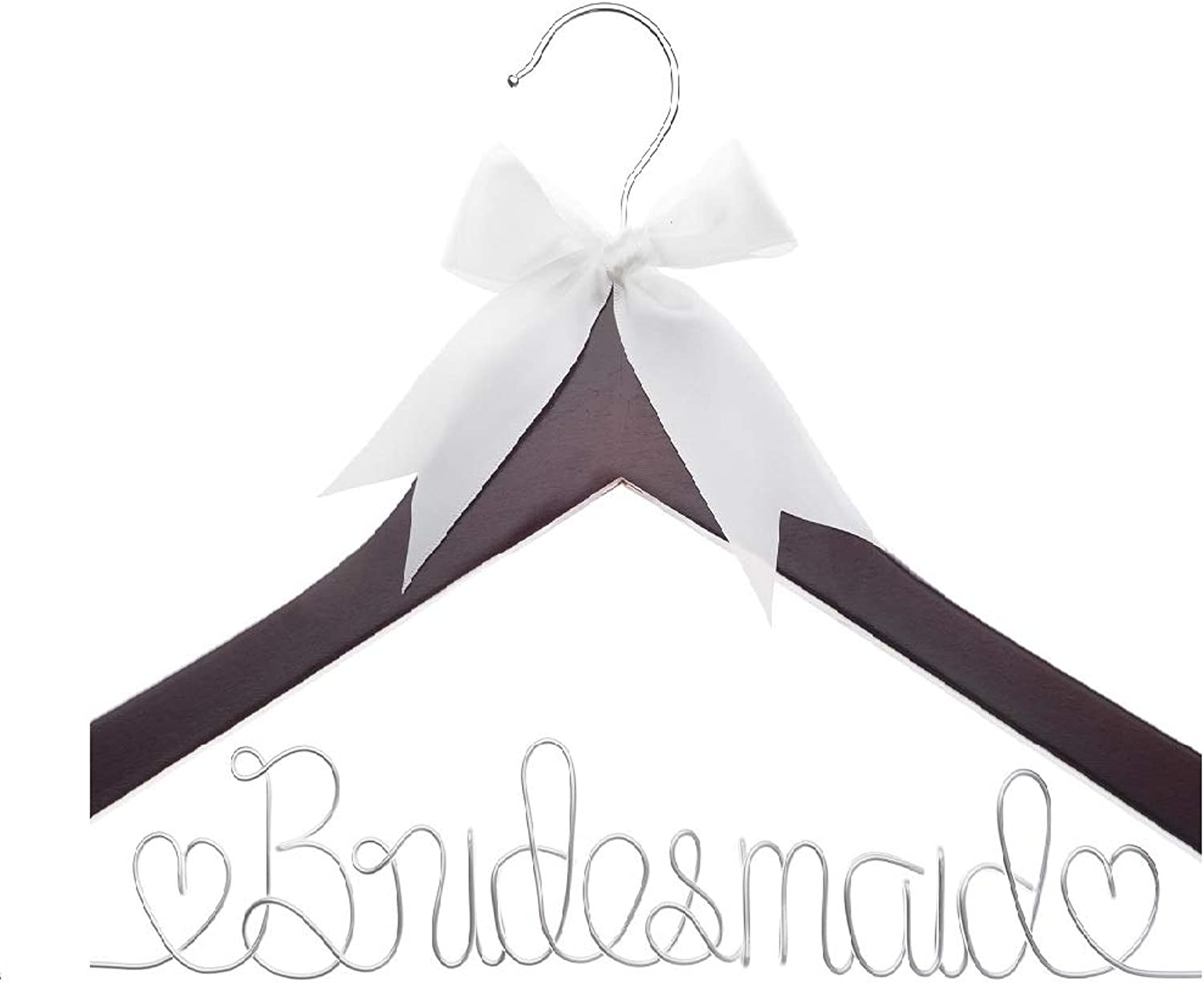Ella Celebration Bridesmaid Hanger, Wood and Wire Hangers for Bridesmaids, Bridal Party Gifts (4)