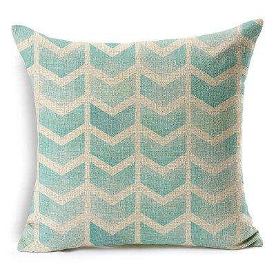 MAYUAN520 Sierkussen Vintage katoen Afrika geometrie Stripe Wave Gestoffeerde overtrekken Boheemse decoratieve kussens sofa kussenslopen Product werpen, beige, groen