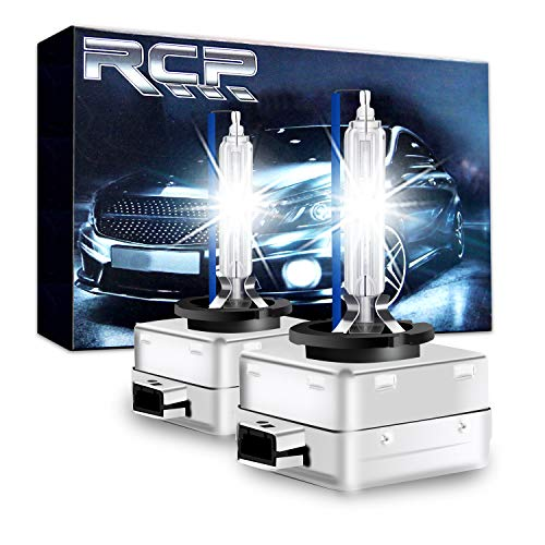 RCP - D3S8 - (A Pair) D3S/ D3R 8000K Xenon HID Replacement Bulb Ice Blue Metal Stents Base 12V Car Headlight Lamps Head Lights 35W