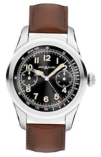 Montblanc Reloj Analógico para Hombre de Cuarzo con Correa en Cuero 117535