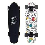 VOMI SFRMUT 27' Cruiser Skateboards de Madera de Arce de 7 Capas Tablas Completas Retro Skate de Surf Vintage, Skateboard Completos con Rodamientos ABEC-9, Adultos Unisex