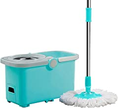 360° Spin Mop Microfiber Spinning Double Drive Rotary Mop Mop Dry and Wet Mop Household Spin Mop Floor Cleaning Products (...