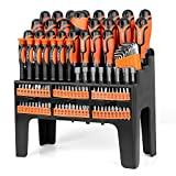 SEDY 120-Piece Magnetic Screwdriver Set with Plastic Racking, Best Tools for Men Tools Gift, Drive Magnetic Bit Holding Screwdriver Handle & Hex Key, for Home Repair, Improvement