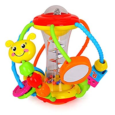 HOLA Baby Toys 6 to 12 Months, Baby Rattles Activity Ball, Shaker, Grab and Spin Rattle, Crawling Educational Toys for 3, 6, 9, 12 Months Baby Infant, Boys, Girls from KiddoGarden