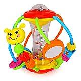HOLA Motorikball Baby Spielzeug ab 6 Monate, Rassel Baby Greifball, Greifling, Beißring, Shake & Krabbel Motorikspielzeug Babyspielzeug ab 3, 6, 9, 12 Monaten