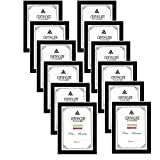 â??High definition front gives documents in good view condition and protects your certificates from scratches ,fingerprints, dirt, water â??DIMENSION: The multi document frames come with 5 pieces picture frame. Certificate frames for A4 documents, ce...