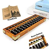 Wooden Abacus,Soroban 13 Column (10.75') Math Abacus for Toddler Kids Out with Anti-Skid Rubber Feet and Reset Button