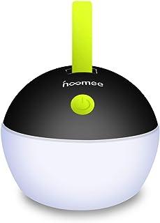 HOOMEE Lámpara Led Portátil - USB Recargable - Premio Red Dot - Para Camping, Emergencias, Decoración del hogar - Impermeable, a prueba de polvo - 4 modos de luz