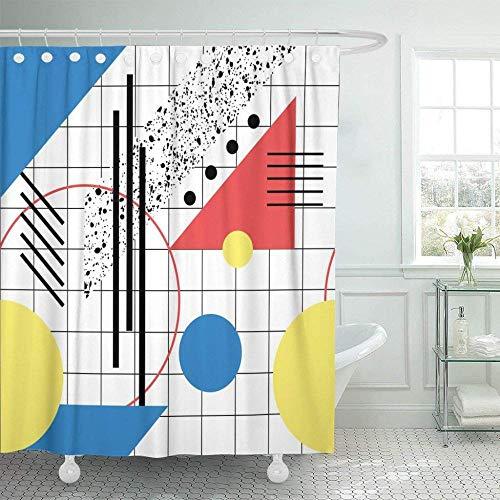 zxcyiPatrón Geométrico Bauhaus Negro Estilo Abstracto Moderno 2 Mode