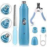 BASEIN Molinillo de uñas, Lima de uñas eléctrica Ultra silenciosa 50 DB, Carga rápida por USB, para Perros pequeños y medianos