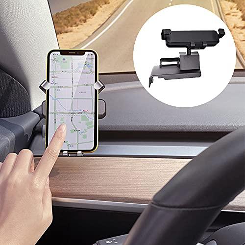 Soporte para teléfono con ventilación de Aire para Coche para Tesla Model 3 2021, Soporte para salpicadero móvil Giratorio de 360 Grados para conducción Segura