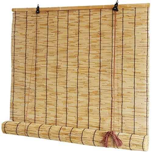JJDSN Persiana Enrollable de láminas, persiana Enrollable de bambú, persianas ambientales/Naturales/Transpirables/Impermeables para Sala de Estar/balcón/pérgola, 120x220cm / 47x87in