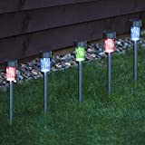 10 x CUQOO Colour Changing Solar Garden Stake...