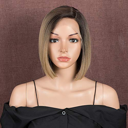 Style Icon Wig 9' Lace Front Bob Synthetic Wig 1.5'x4' Lace Simulated Scalp...
