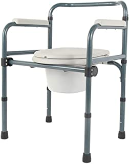 Asdfnfa Multifunctional Toilet Seat with Commode Carbon Steel Foldable Waterproof Non-Slip Bathroom Suitable for The Elderly