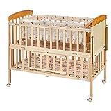 ベビーベッド、クレードル、テーブルケア無垢材のベッド多機能可動スプライシングビッグベッド、クレードル、蚊帳
