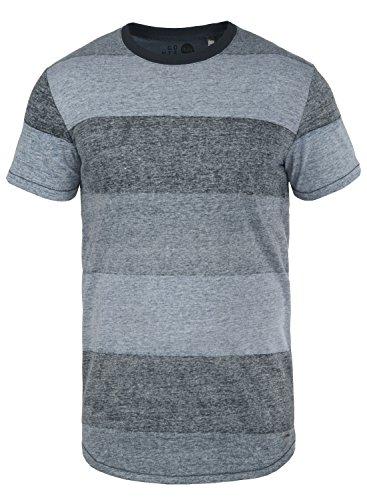 !Solid Teine Herren T-Shirt Kurzarm Shirt Mit Streifen Und Rundhalsausschnitt, Größe:XL, Farbe:Insignia Blue (1991)